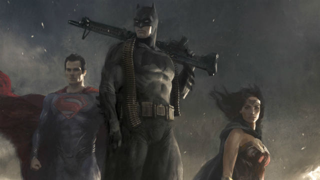 Superman, Batman, Wonder Woman.