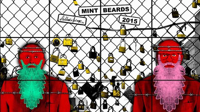 Gilbert & George, MINT BEARDS, White Cube