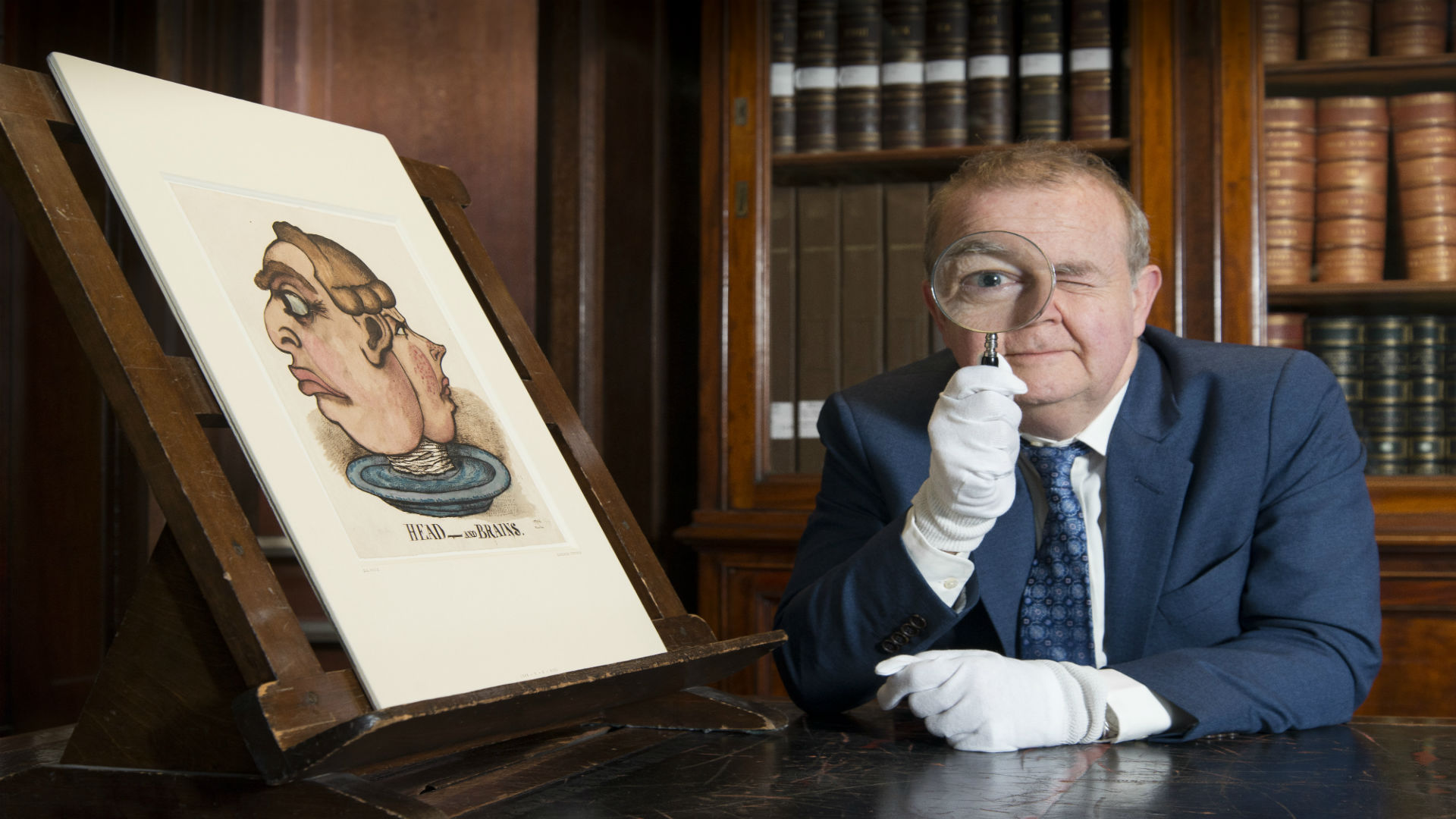 Ian Hislop at the British Museum searching for objects for the Citi exhibition - I Object at the British Museum