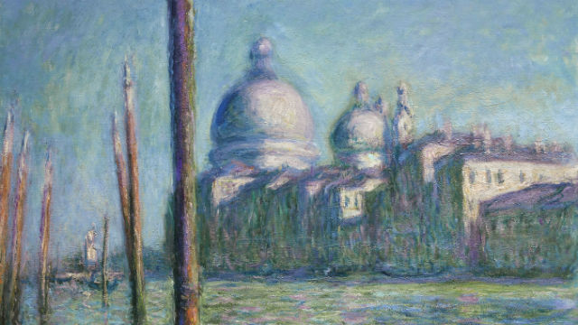 Painting of the Grand Canal, Venice, by Claude Monet