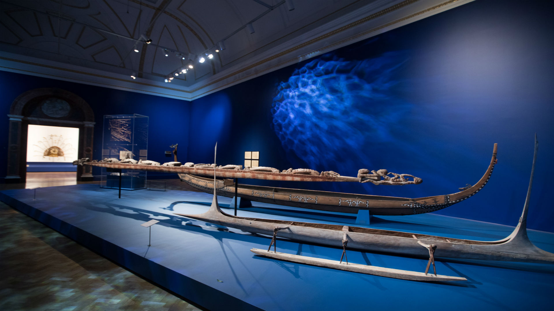 Oceania exhibition installation view at Royal Academy of Arts