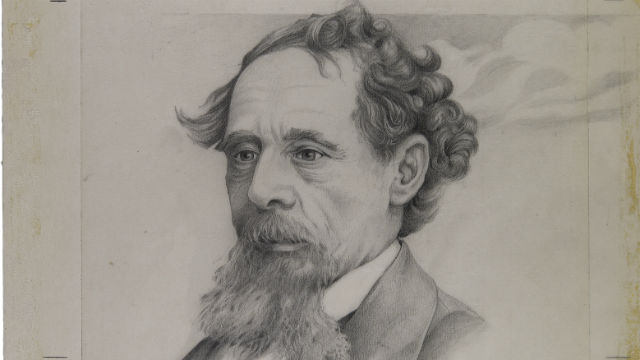 A portrait of Charles Dickens used for the £10 note.