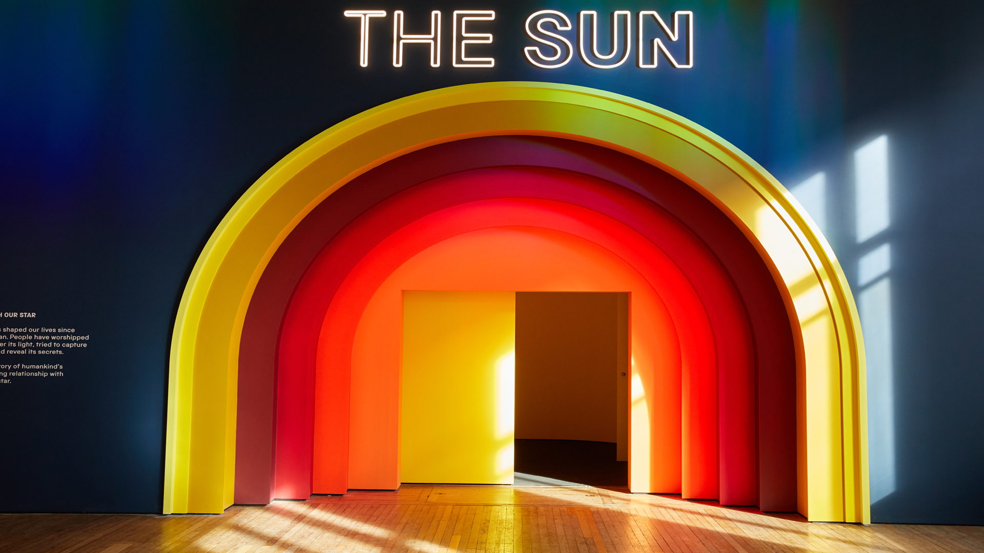 Entrance to The Sun Living with our Star exhibition