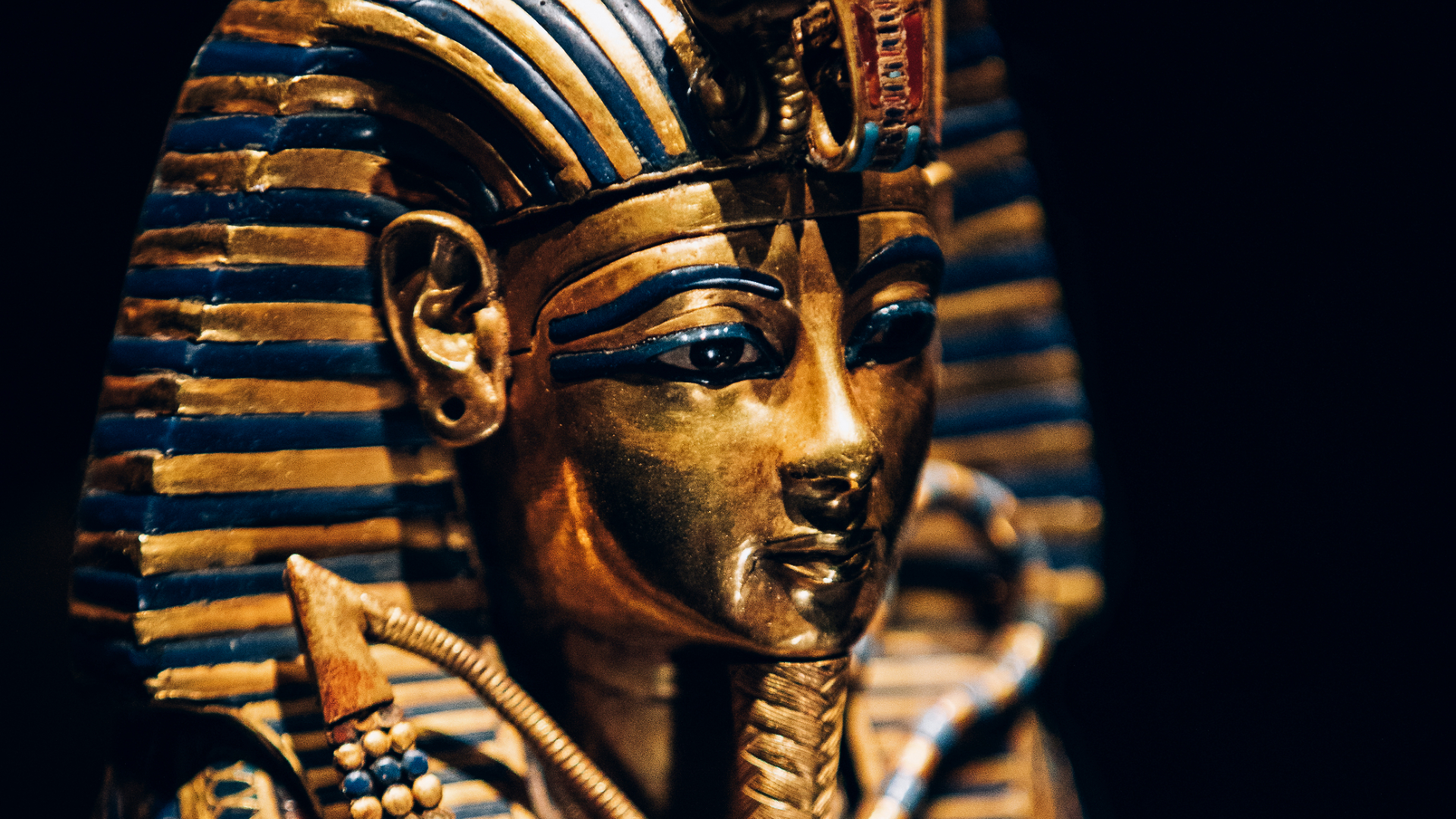 Close up of King Tutankhamun's canopic coffinette.
