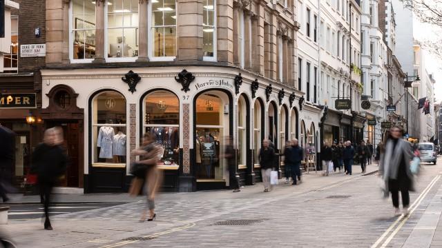 People walking around on a London shopping street. Credits: Nick Howe.