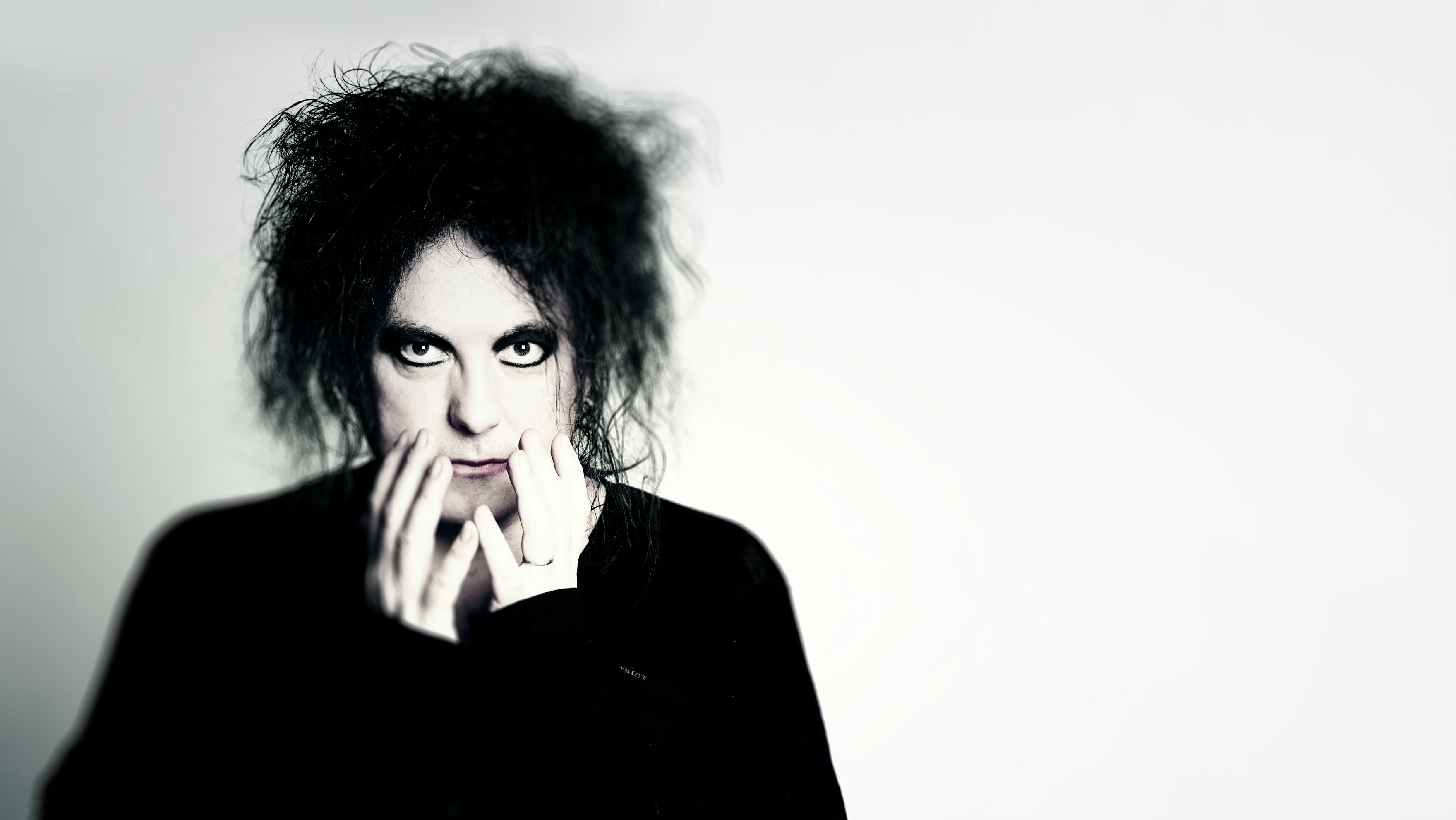 Portrait of The Cure's Robert Smith, who is curating Meltdown at Southbank Centre.