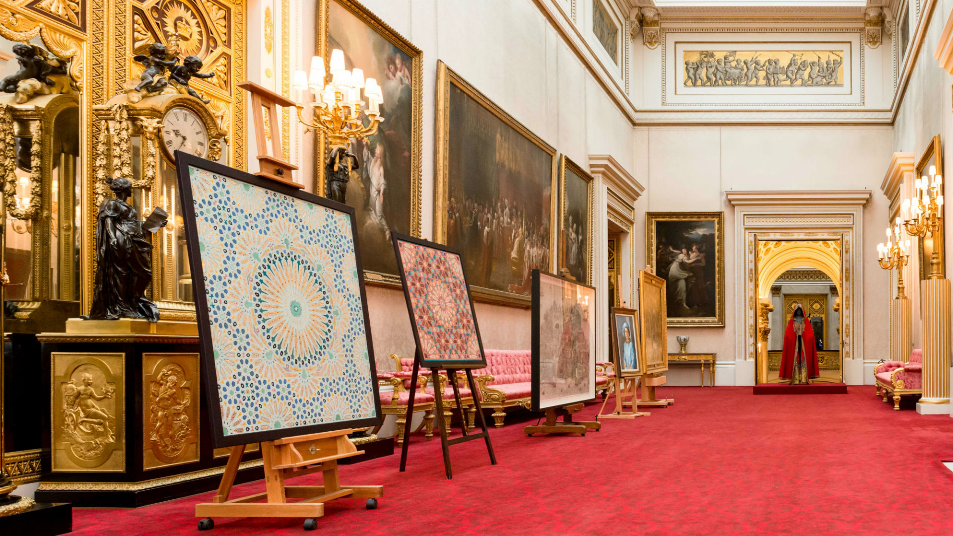 A selection of artworks line Buckingham Palace's State Rooms for the Prince and Patron exhibition
