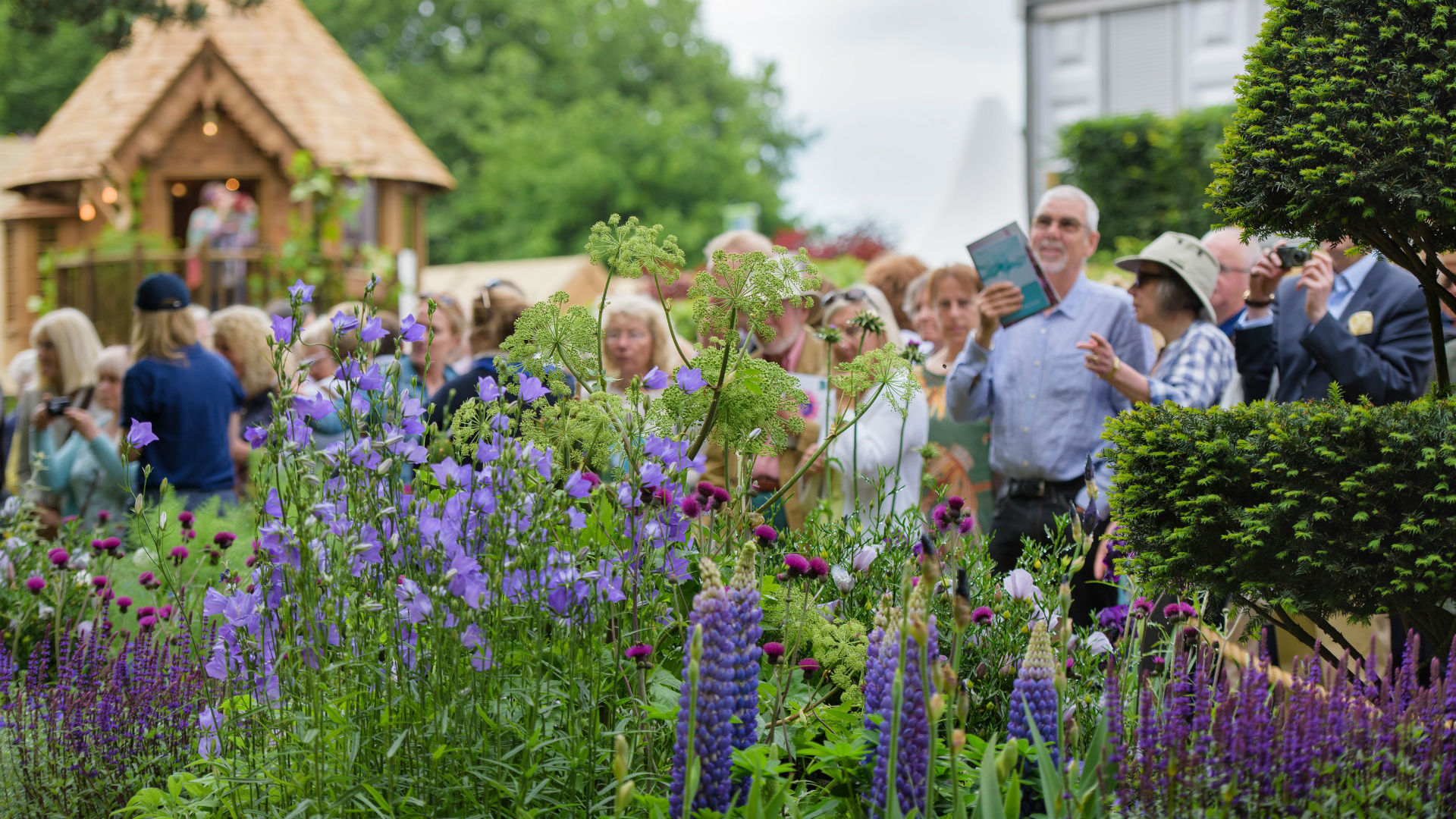 Visitors view The Morgan Stanley Garden at RHS Chelsea Flower Show 2017.