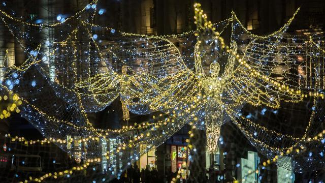 Weihnachtsbeleuchtung in der Regent Street