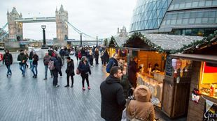 Christmas market at London Bridge City's Christmas by the River