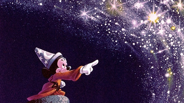Disney's Sorcerer's Apprentice Mickey Mouse conjures magic