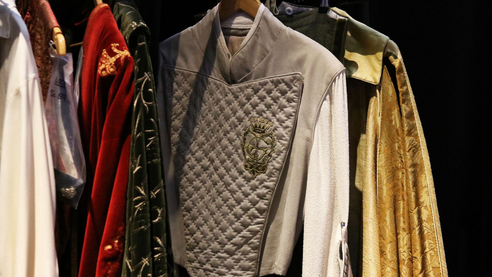 Lockhart costume rail in Behind the Seams at Warner Bros. Studio Tour London