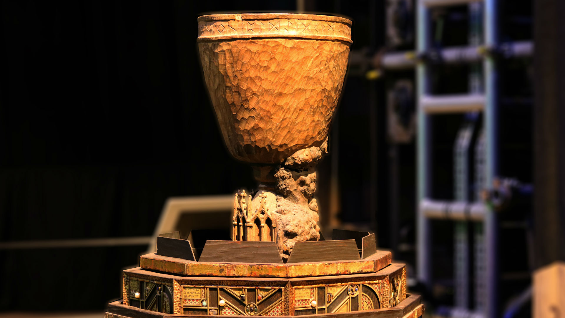 The Goblet of Fire at Warner Bros. Studio Tour London - Making of Harry Potter. TM & © Warner Bros. Entertainment Inc. Harry Potter Publishing Rights © JKR.