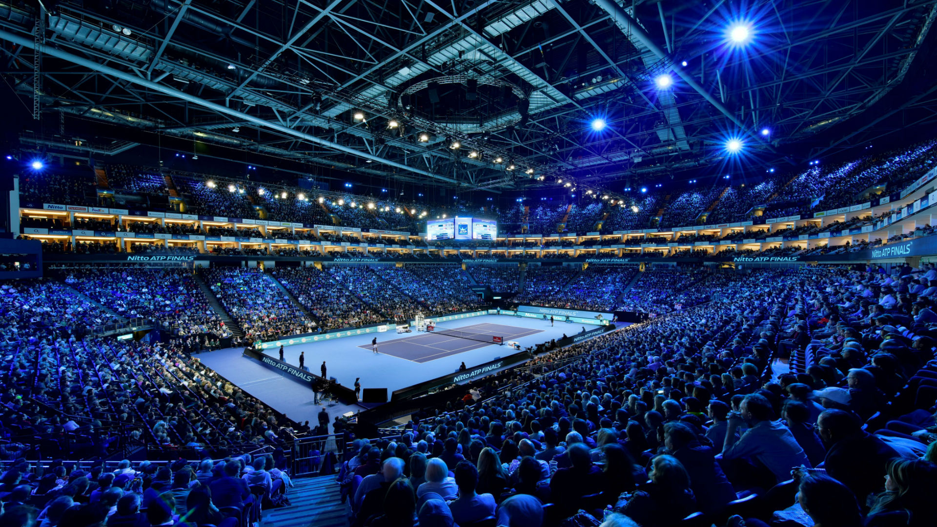 A packed arena at the Nitto ATP Finals at The O2, 11-18 Nov