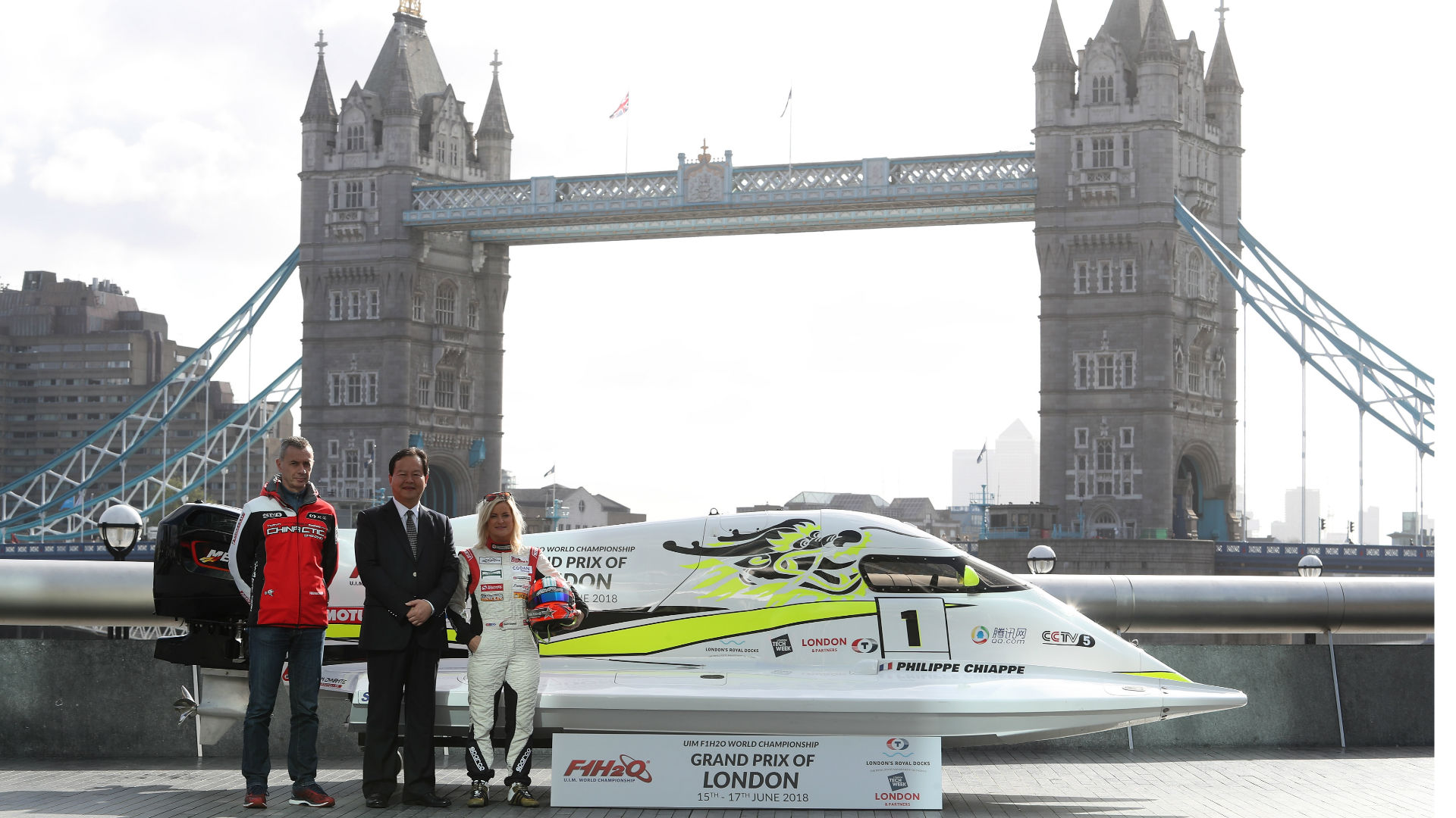 The F1H20 Powerboat racing World Championship Grand Prix is coming to London. Image courtesy of Getty Images/Chris Lee