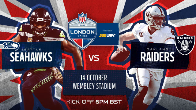 Image result for seahawks vs.raiders @ London 2018