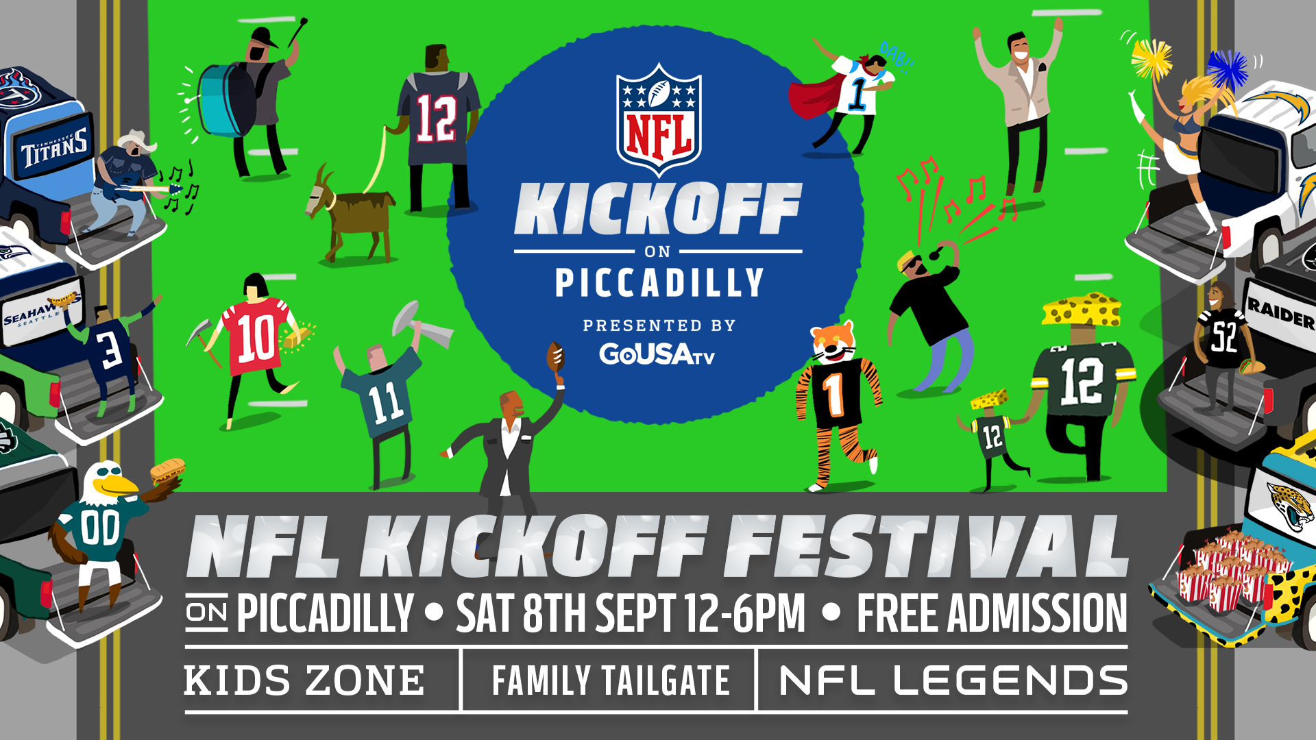 Banner for the NFL Kickoff Party at Piccadilly. Image courtesy of NFL