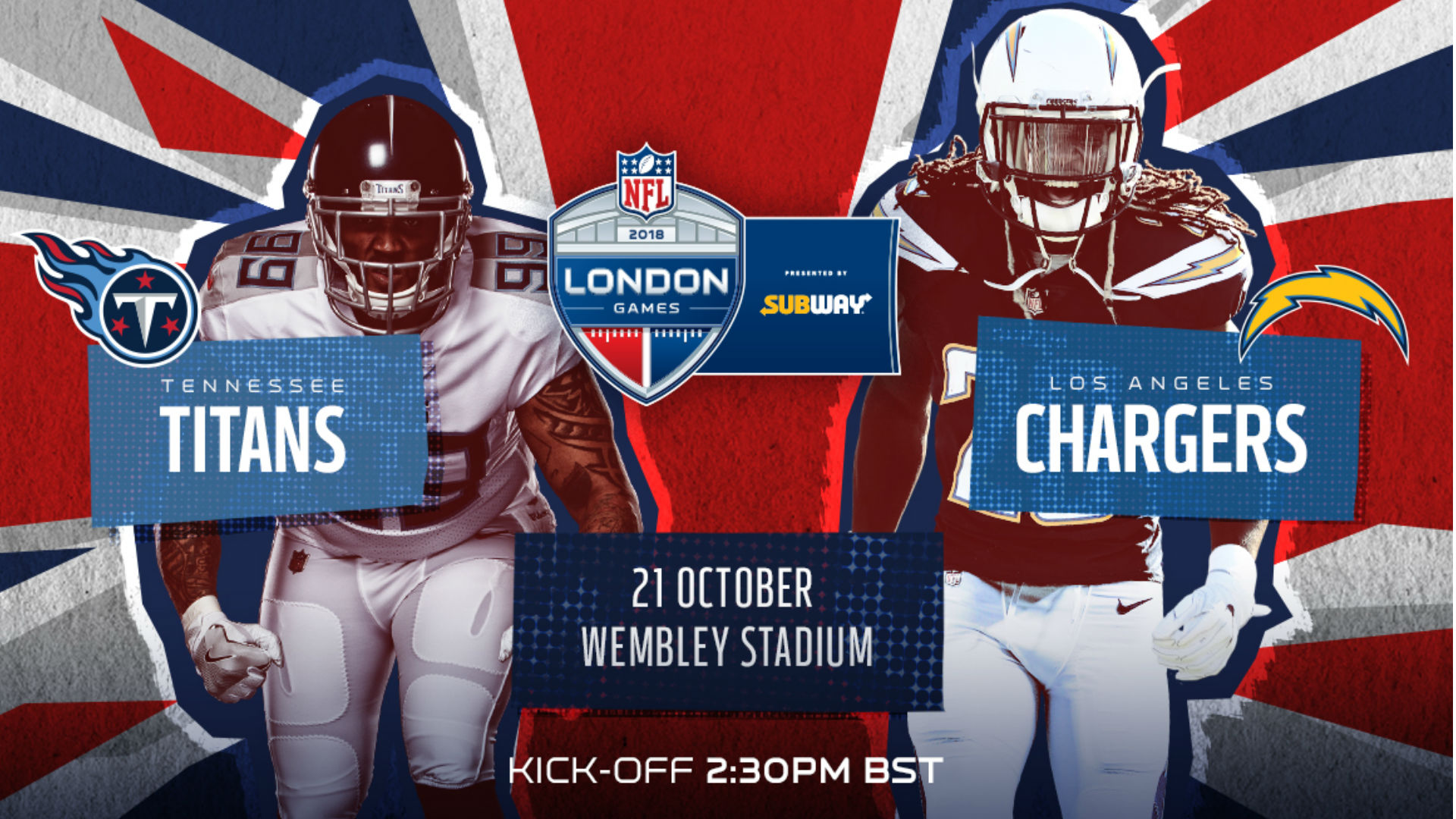 31d1bf1da NFL London Games 2018  Tennessee Titans v Los Angeles Chargers at Wembley  Stadium