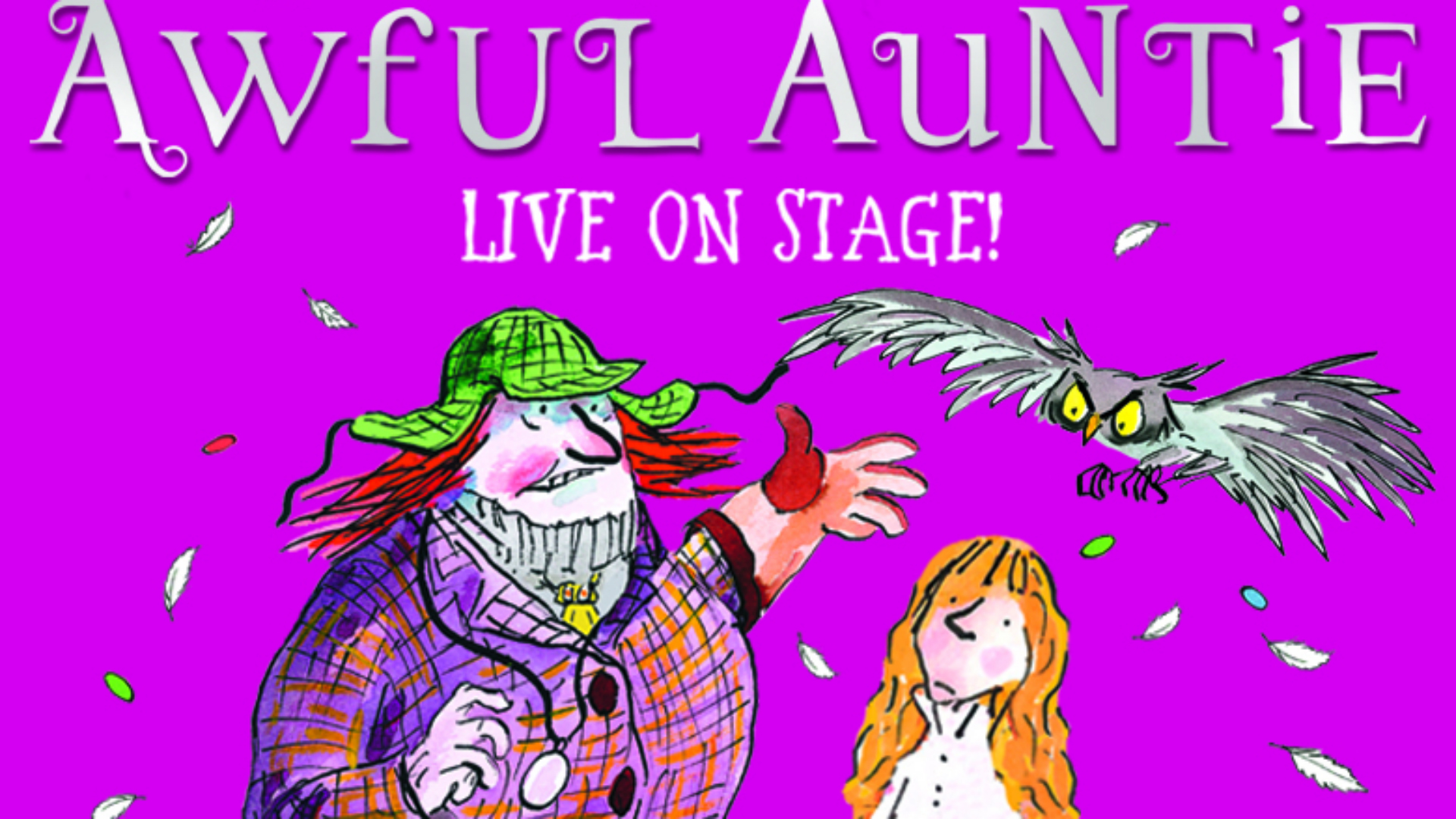 Awful Auntie at the Bloomsbury Theatre. Image courtesy of Kate Morley PR.