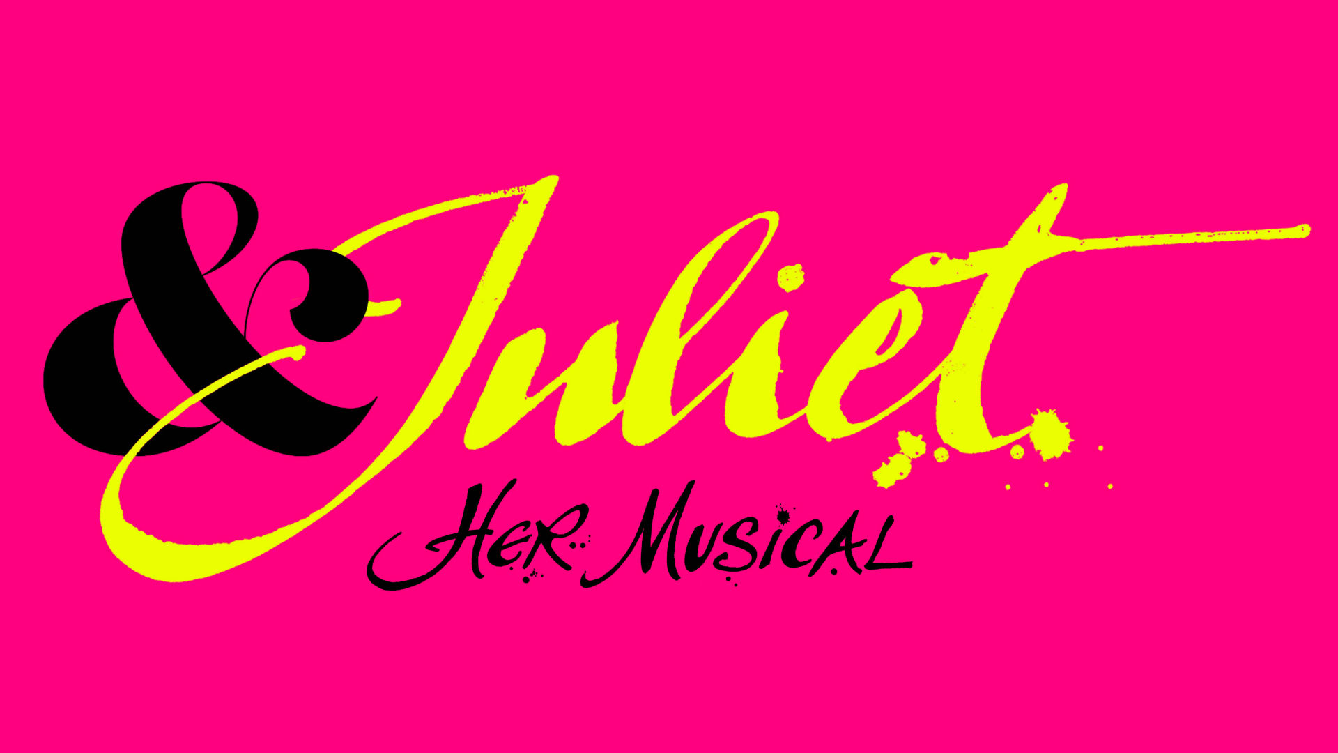 Poster for the new & Juliet musical in London's West End