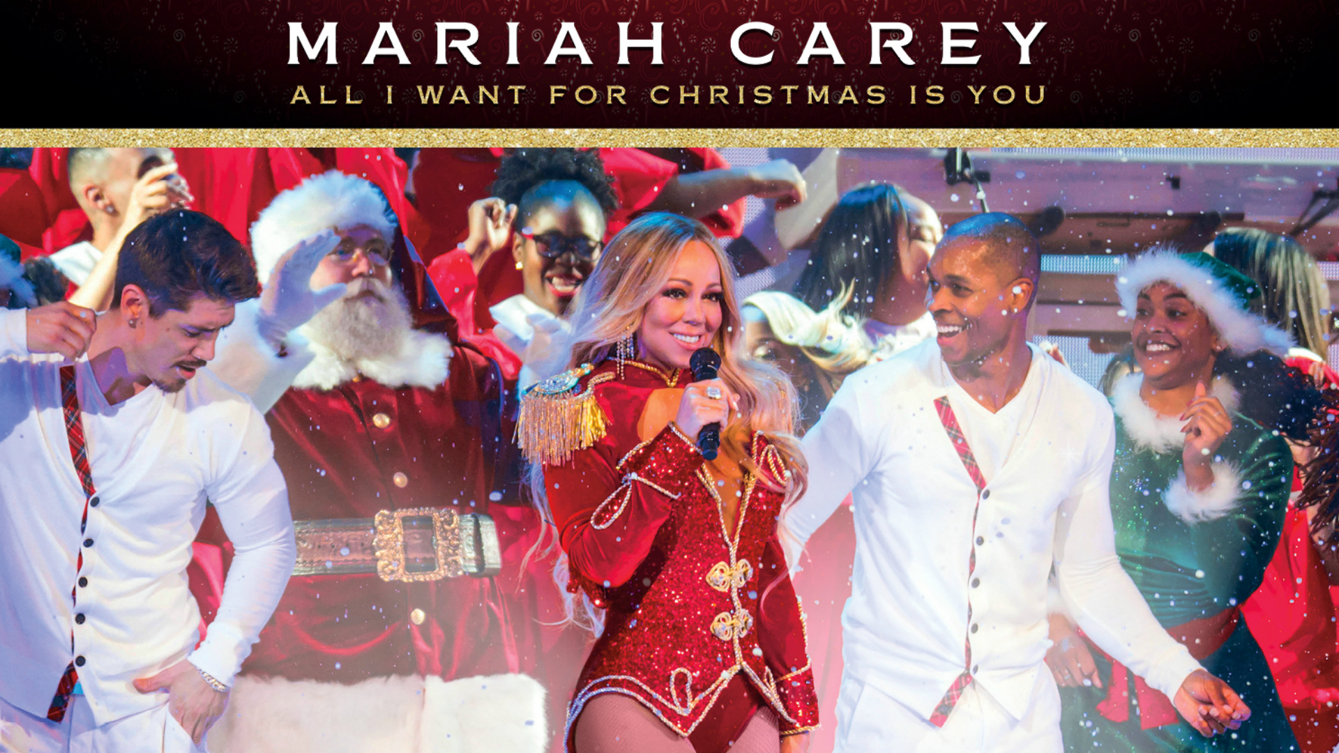 Mariah Carey's All I Want For Christmas Is You at The O2. Image courtesy of The O2.