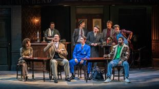The cast of Only Fools and Horses on stage