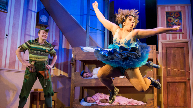Peter Pan Goes Wrong cast in action. Credit: Alastair Muir. Image courtesy of Helen Snell.