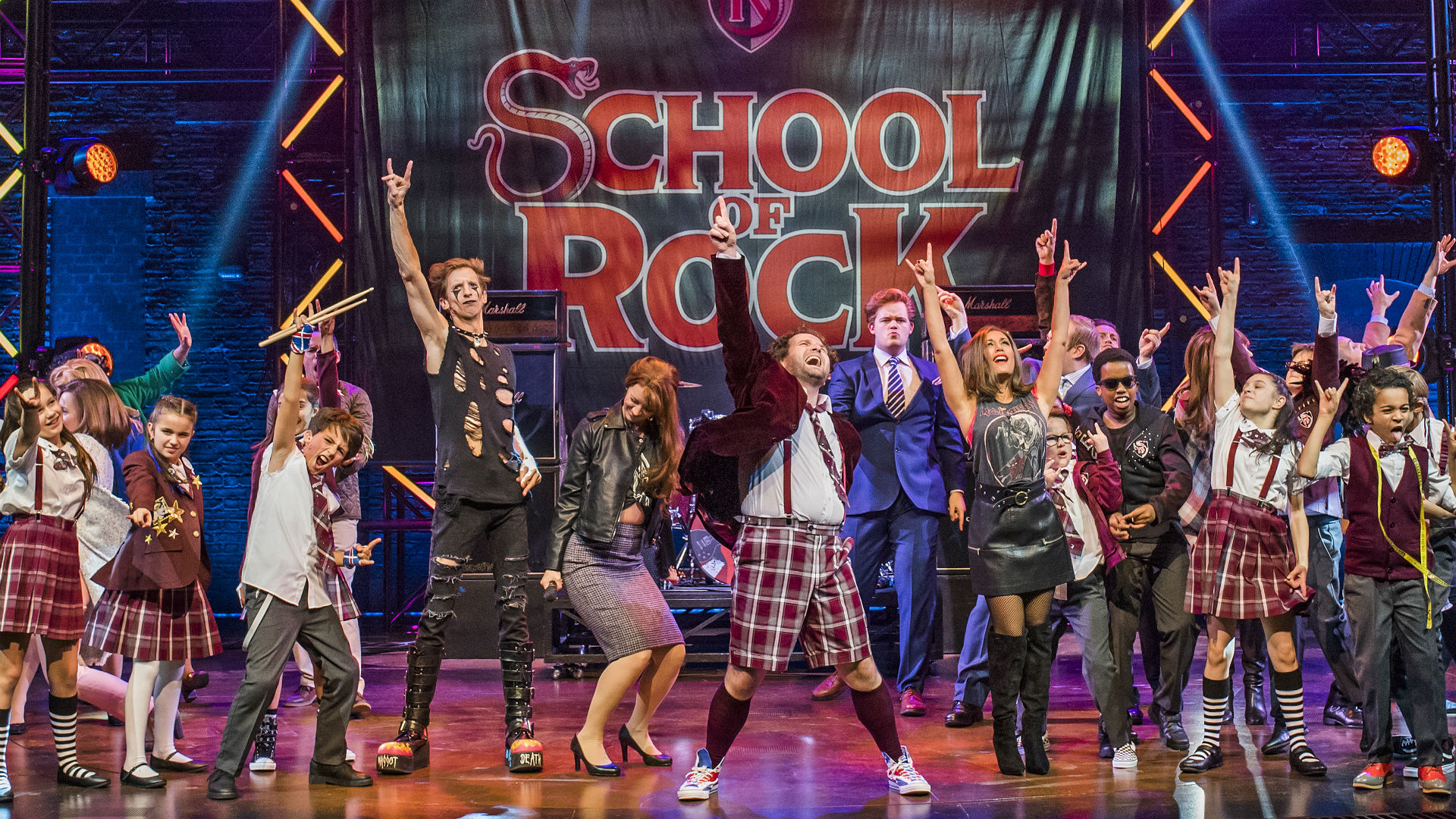 School of Rock at the New London Theatre. Image: Tristram Kenton