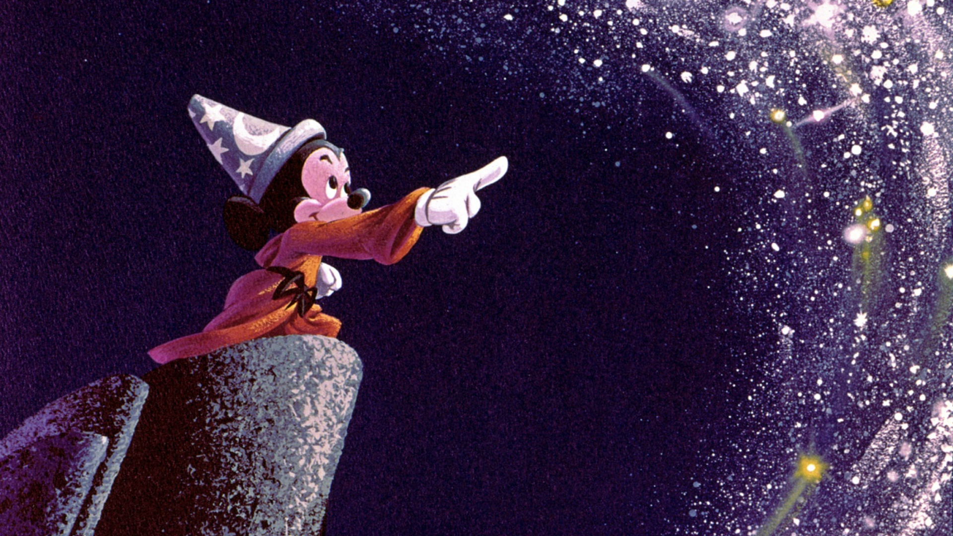 © Disney. Artwork of Sorcerer's Apprentice Mickey from Walt Disney's Fantasia, which provided the inspiration for The Vaults presents Sounds and Sorcery, celebrating Disney Fantasia. Image courtesy of The Corner Shop PR.