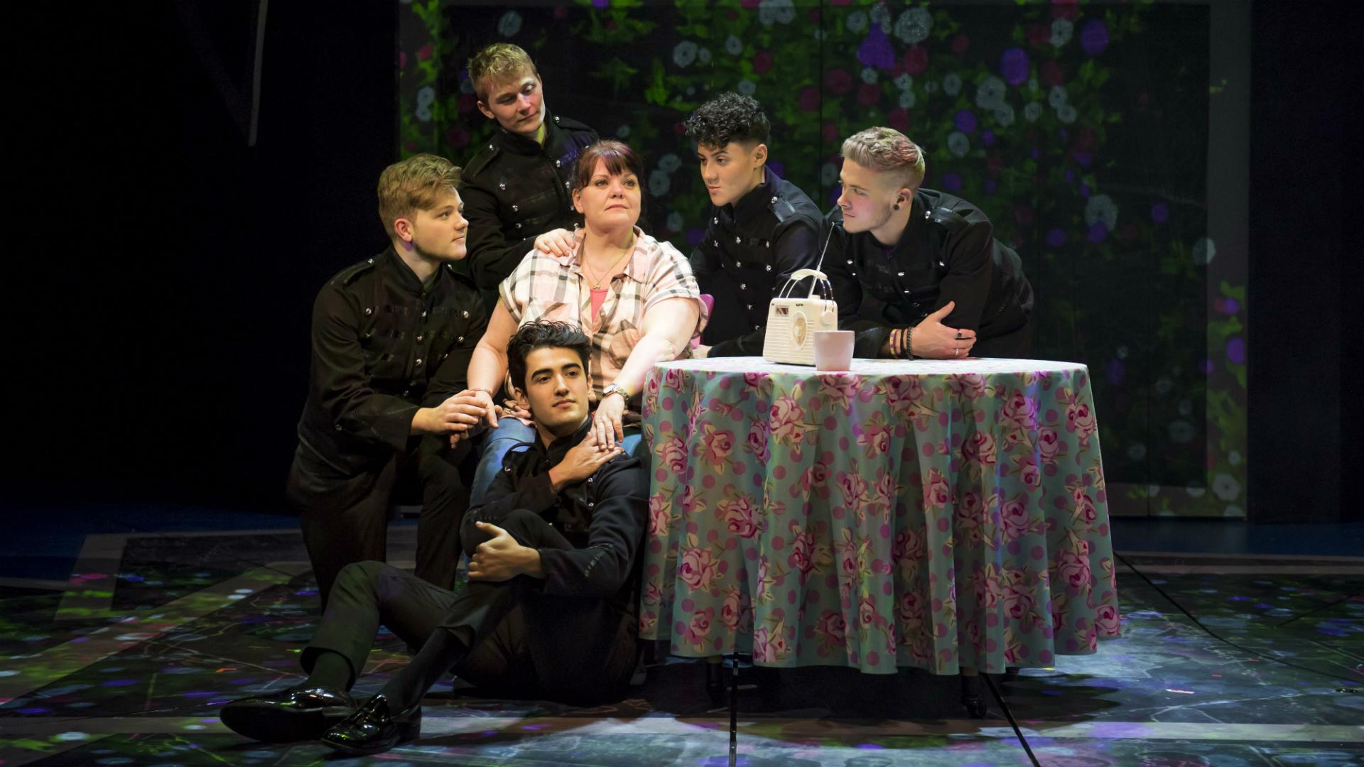 The Band at Theatre Royal Haymarket. Photo credit: Matt Crockett. Image courtesy of Amanda Malpass PR.