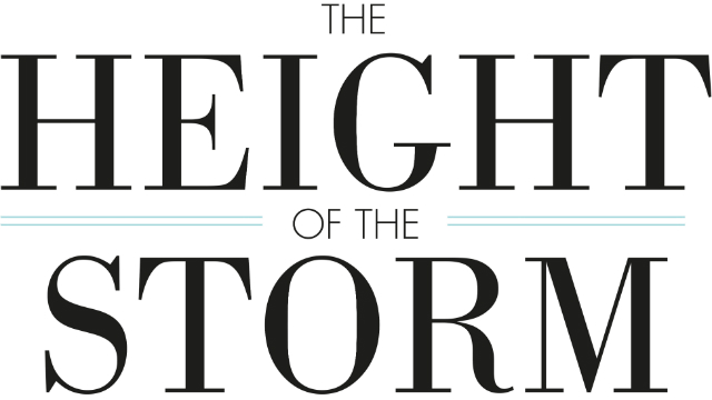 The Height of the Storm poster featuring the name of the play.