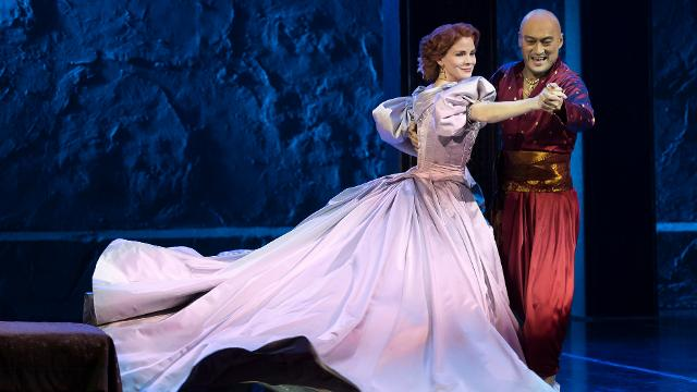 Two characters dancing in King and I at the London Palladium.
