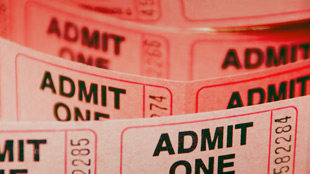 Theatre tickets stubs