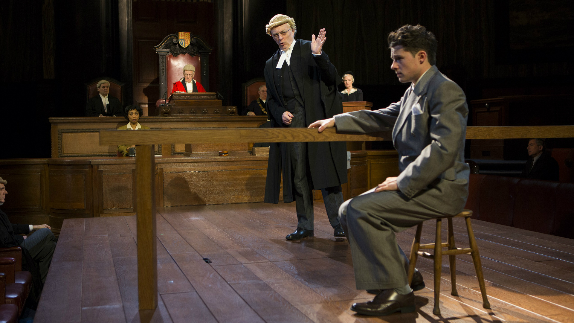 Witness for the Prosecution at London County Hall. Photo: Ellie Kurttz. Image courtesy of The Corner Shop PR.