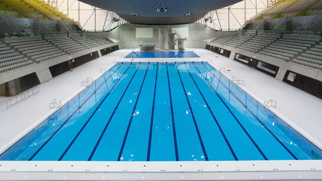 during the london 2012 olympics the aquatics centre hosted a range of events the building is now a swimming centre for the local community - Olympic Swimming Pool 2012