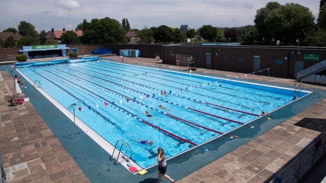Charlton Lido Swimming