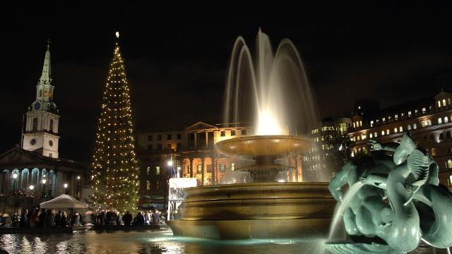 Image result for trafalgar square christmas tree