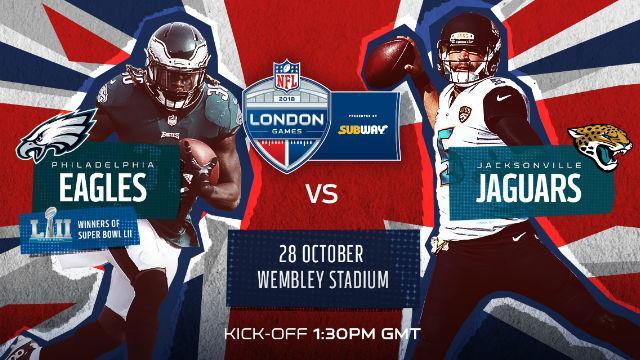 Philadelphia Eagles V Jacksonville Jaguars   NFL London Games 2018    American Football   Visitlondon.com