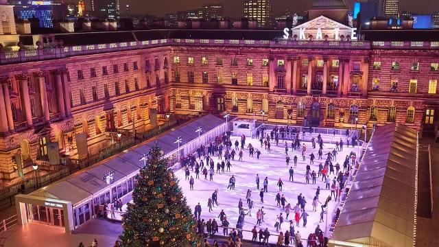 Christmas Ice Skating London.Skate At Somerset House