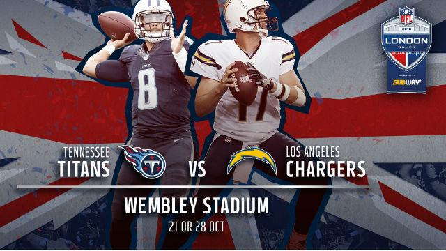 nfl london games 2018 tennessee titans v los angeles chargers at wembley stadium american. Black Bedroom Furniture Sets. Home Design Ideas