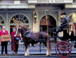 Fortnum & Mason with an old carriage on the front