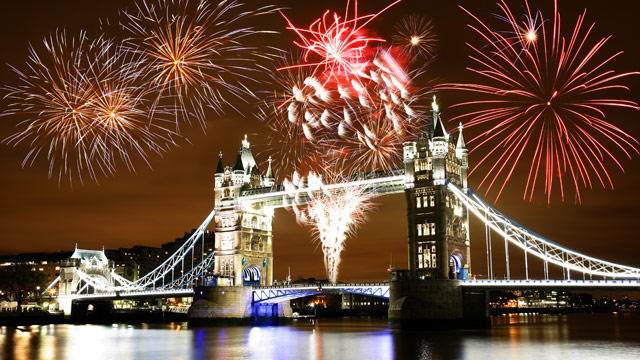 Fireworks over the Tower of London