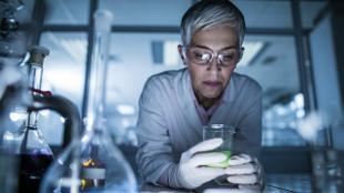 A scientist in a laboratory