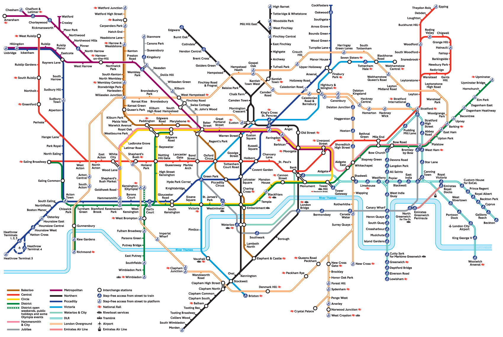Subway Map In London