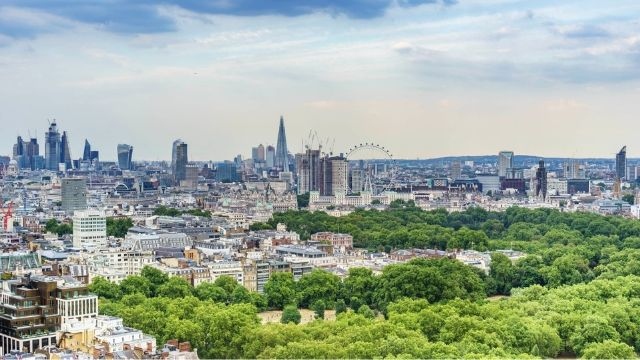 London skyline with the London Eye