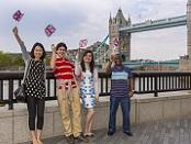 International students at Tower Bridge