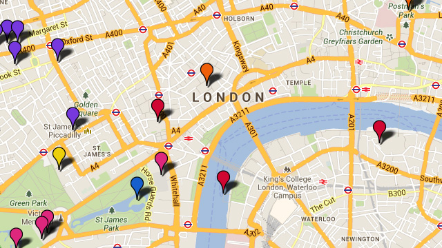 London Landmarks Map.London Attractions Tourist Map Things To Do Visitlondon Com