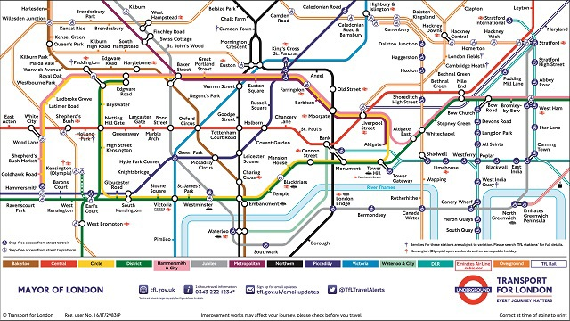London Tube Map - June 2016