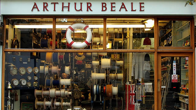 bcb3dd85790 Feel the wind in your sails and navigate yourself to Arthur Beale - a shop  that time forgot since it opened in the 1800s. This old-fashioned yacht  chandler ...