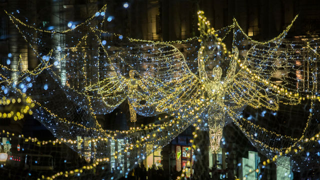 London At Christmas Time.Top Christmas Lights Christmas Business London